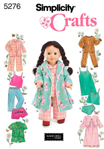 Simplicity Clothes For 18 Fashion Doll