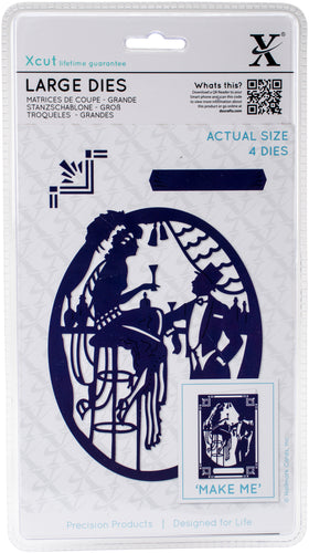 Xcut Decorative Dies Large 4/Pkg