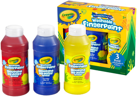 Crayola Washable Finger Paint 8oz 3/Pkg
