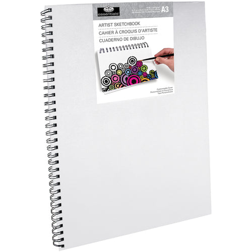 "essentials(TM) Canvas Cover Sketchbook 11.6""X16.5"""