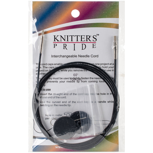 "Knitter's Pride-Interchangeable Cords 49"" (60"" w/ tips)"