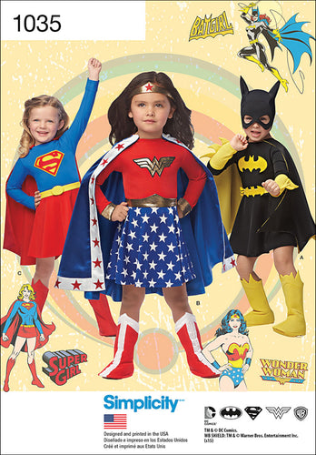 Simplicity Childs Wonder Woman Supergirl Batgirl Costumes