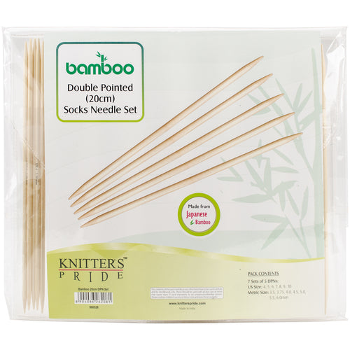 Knitter's Pride-Bamboo Double Pointed Needles Set 8""