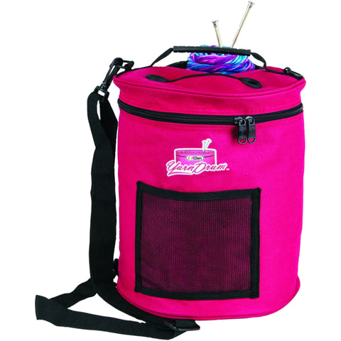 ArtBin Yarn Drum 6806SA Knitting and Crochet Tote, Raspberry