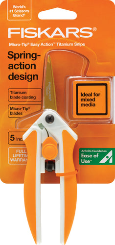 Fiskars Easy Action Titanium Micro-Tip Scissors 5""