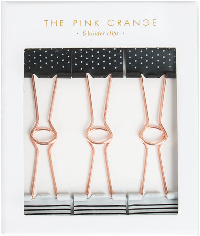 The Pink Orange Binder Clips In Gift Box 6/Pkg