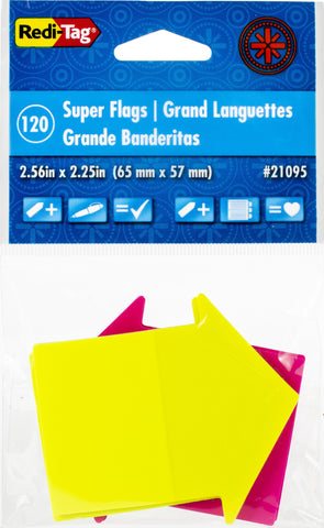Redi-Tag See Notes Super Size Arrow Flags 120/Pkg