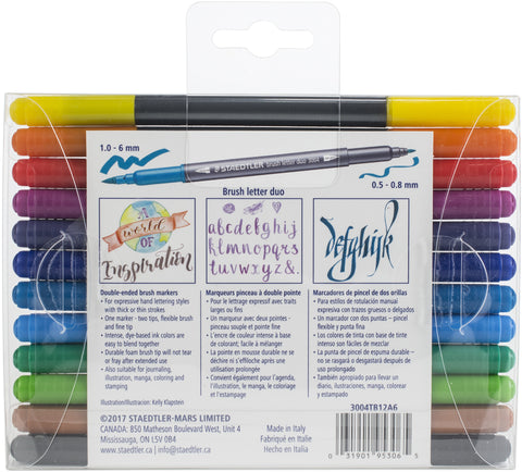 Double Ended Lettering Markers 12/Pkg
