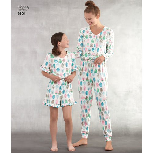 Simplicity Easy-To-Sew Girls & Misses Jumpsuit Or Romper