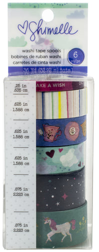 Shimelle Head In The Clouds Washi Tape 6/Pkg
