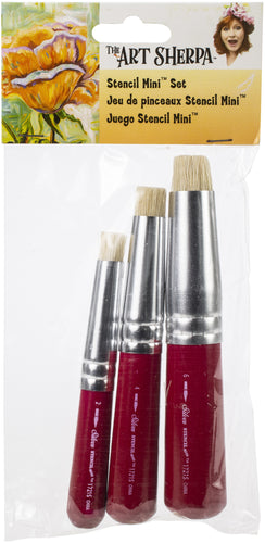 Art Sherpa Stencil Mini Brush Set 3/Pkg