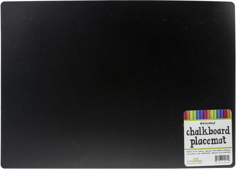 "Reversible Chalkboard Placemat 12""X17"""