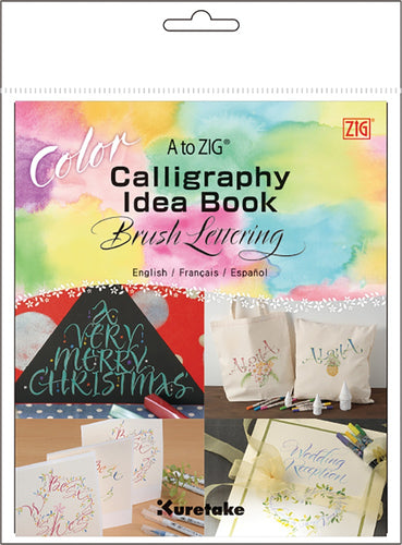 A to ZIG Calligraphy Idea Book-Color Brush Lettering
