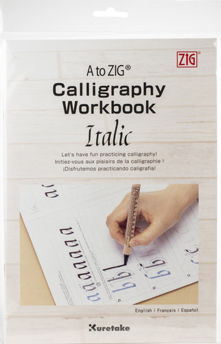 A to ZIG Calligraphy Workbook-Italic