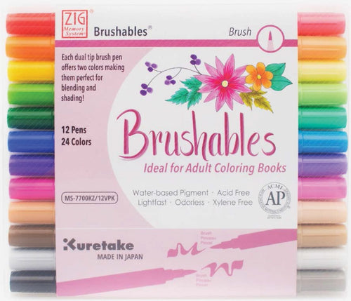 ZIG Memory System Brushables Dual-Tip Markers 12/Pkg