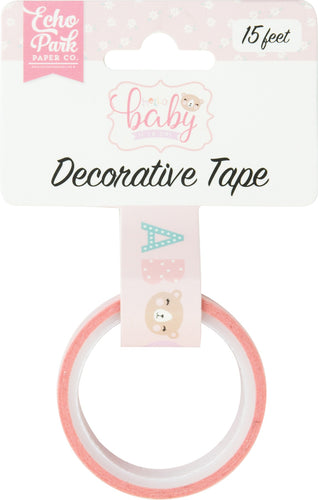 Echo Park Hello Baby Girl Decorative Tape 15'
