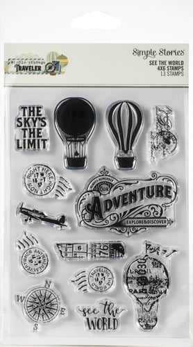 Simple Vintage Traveler Photopolymer Clear Stamps