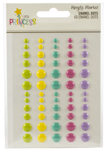 Little Princess Enamel Dots Embellishments 60/Pkg