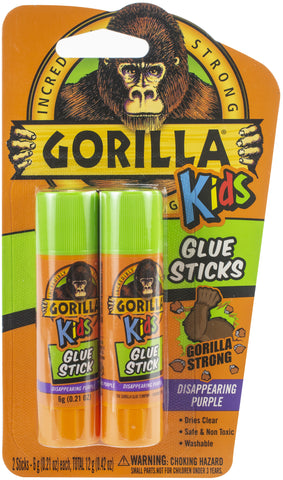 Gorilla Glue Washable School Glue Sticks - Purple 2/Pkg