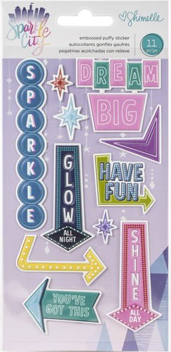 Shimelle Sparkle City Embossed Puffy Stickers