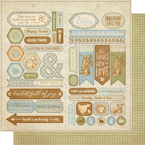 "Abundant Double-Sided Cardstock Die-Cut Sheet 12""X12"""