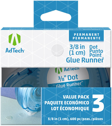 Ad-Tech Permanent Glue Dots 3/Pkg