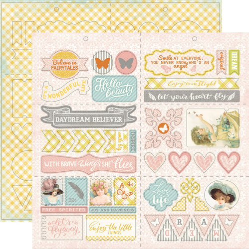 "Dreamy Double-Sided Cardstock Die-Cut Sheet 12""X12"""