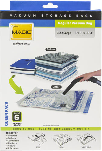 Egemen Magic Saver Vacuum Bag Set Of 8 Super Pack