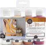 American Crafts Color Pour Pre-Mixed Paint Kit 4/Pkg