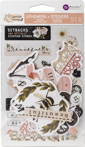Apricot Honey Cardstock Ephemera 51/Pkg