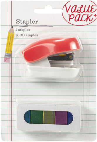 AC Office Mini Stapler With Multicolored Staples