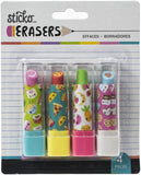 Sticko Retractable Lipstick Erasers 4/Pkg