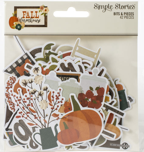 Fall Farmhouse Bits & Pieces Die-Cuts 42/Pkg