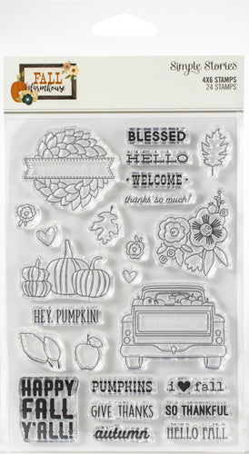 Fall Farmhouse Photopolymer Clear Stamps