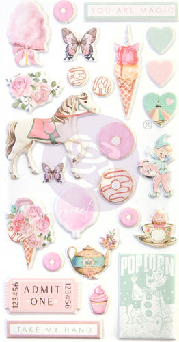 Dulce By Frank Garcia Puffy Stickers 26/Pkg