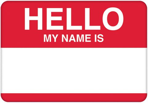 "Self-Adshesive Name Tags 3.5""X2.5"" 100/Pkg"