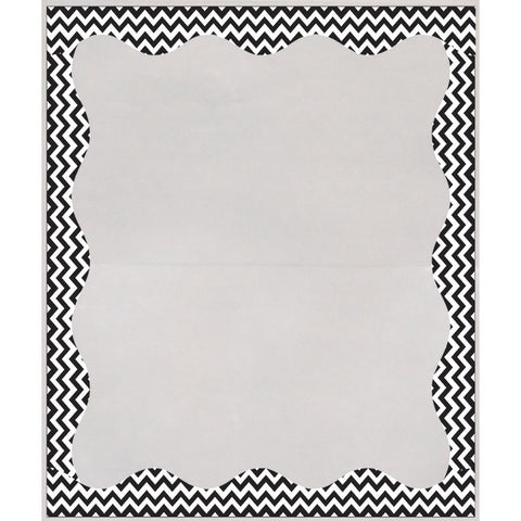 Clear View Self-Adhesive Library Pockets, 3 1/2 X 5, Clear With Black Chevron Border