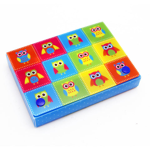 Color Owls Index Card Boxes 4X6In