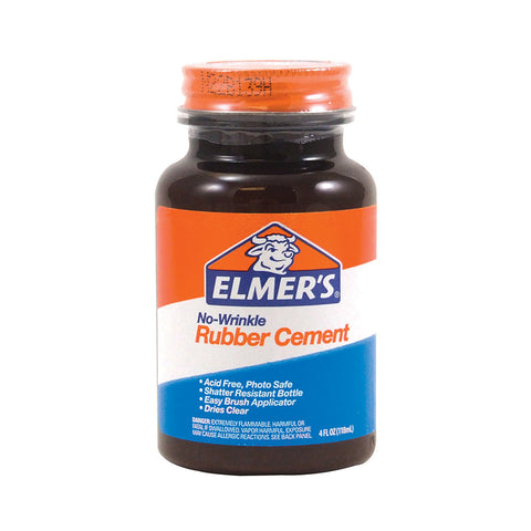 Elmer'S Rubber Cement, 4 Oz W/Applicator