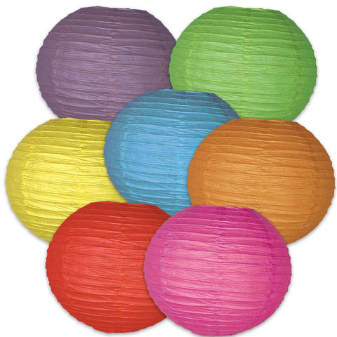 Colorful Lanterns Dimensional Accent, Set Of 7