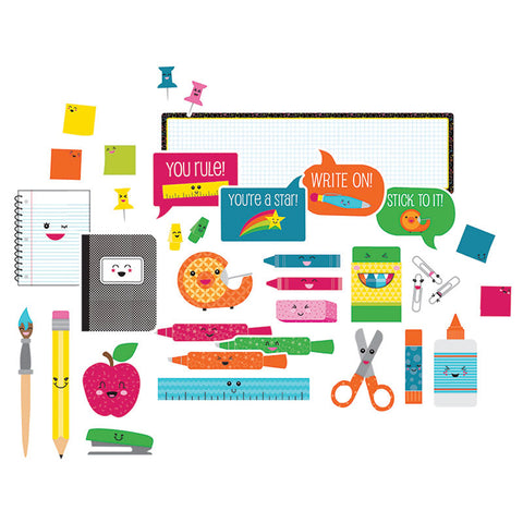 School Pop School Tools Bulletin Board Set