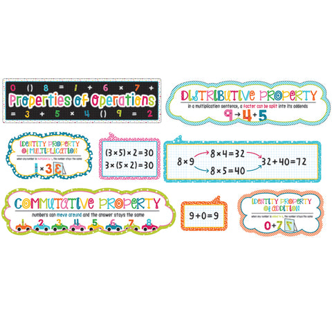 School Pop Properties Of Operations Bulletin Board Set