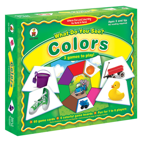 What Do You See? Colors Board Game