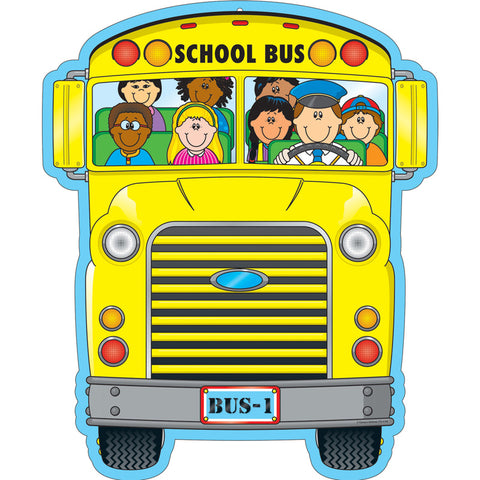School Bus Two Sided Decoration