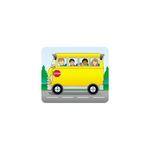 School Bus Name Tags, 3 X 2.5, Pack Of 40