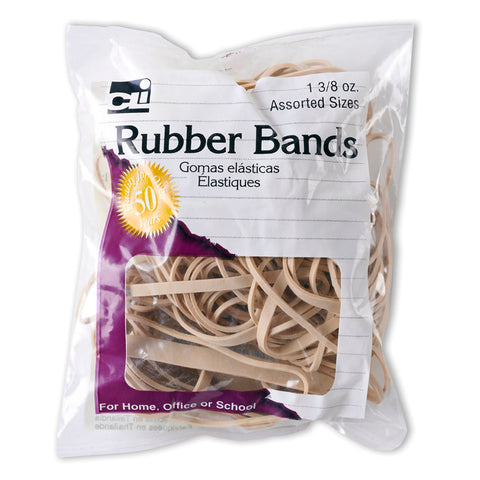 Rubber Bands, Natural Color, 1 3/8 Oz. Bag