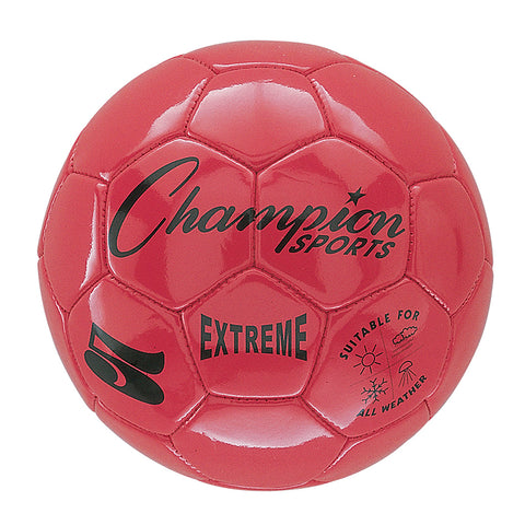 Extreme Soccer Ball, Size 5, Red