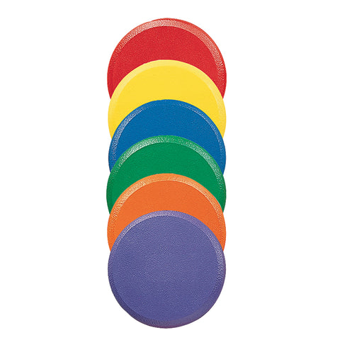 Rounded Edge 9 Foam Discs Set, 6 Colors