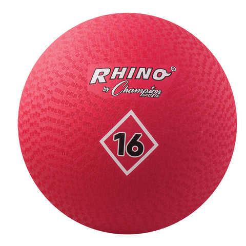 Playground Ball, 16, Red