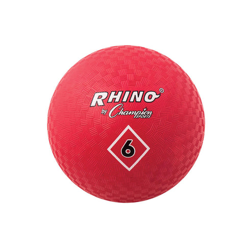 Playground Ball, 6, Red